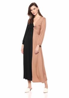 Rachel Pally Women's Two-Tone Twist Dress Black/Dulce CLRBLOCK S