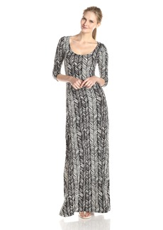 Rachel Pally Women's Yas Printed 3/4 Sleeve Open Back Maxi Dress