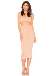 Rachel Pally Rib Bandeau Skirt Set