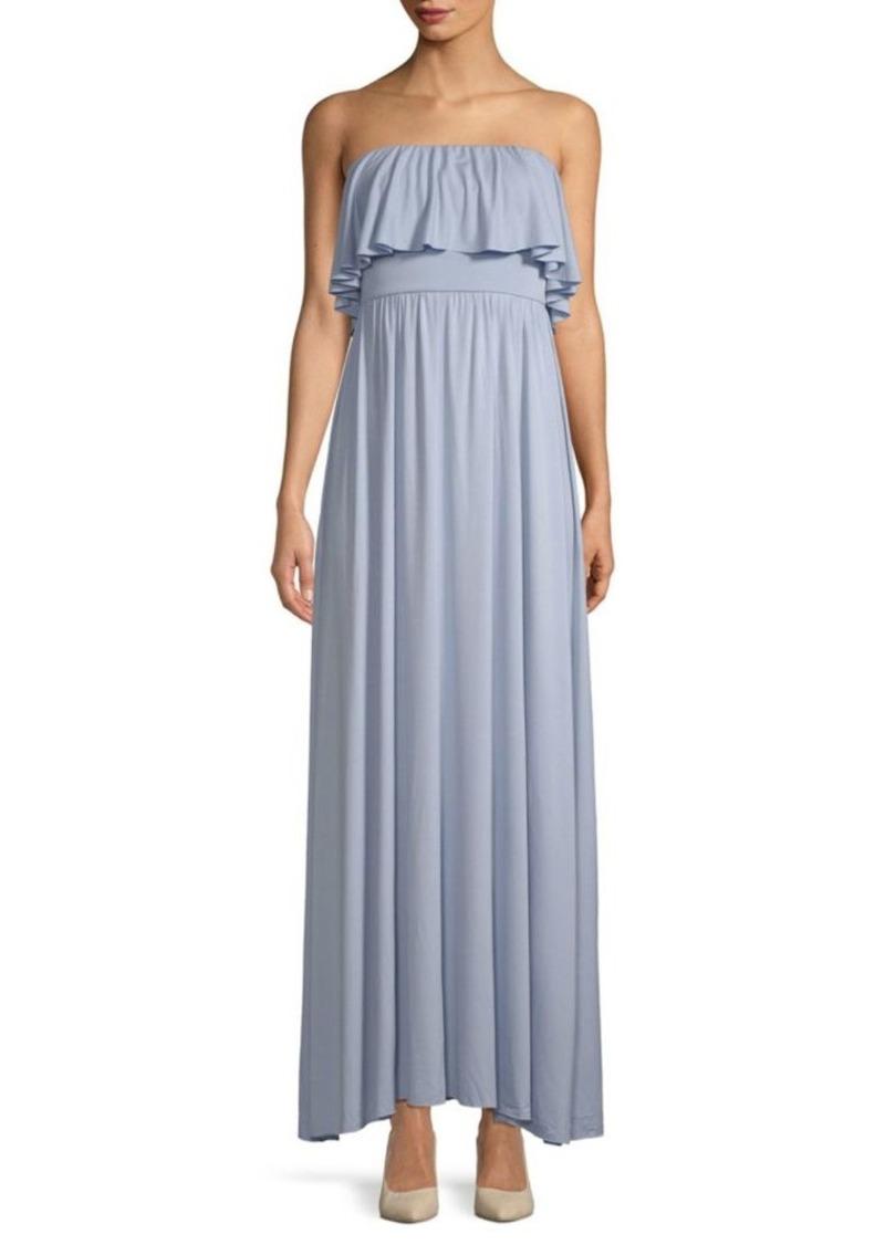 Rachel Pally Sienna Strapless Ruffled Maxi Dress