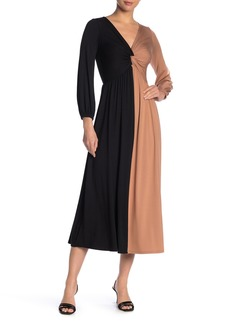 Rachel Pally Two-Tone Twist Knit Midi Dress