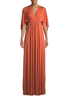 Rachel Pally V-Neck Kimono-Sleeve Empire-Waist A-Line Long Caftan Dress