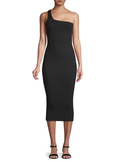 Rachel Pally Wyn Ribbed One-Shoulder Bodycon Dress