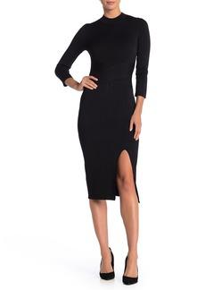 Rachel Roy 3/4 Sleeve Back Cutout Dress