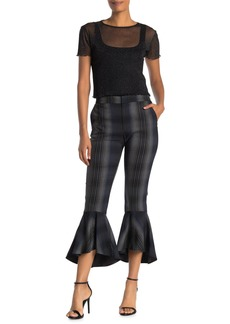 Rachel Roy Aisha Ruffle Plaid Trousers