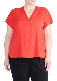 Rachel Roy Alessia V-Neck Satin Top (Plus Size)