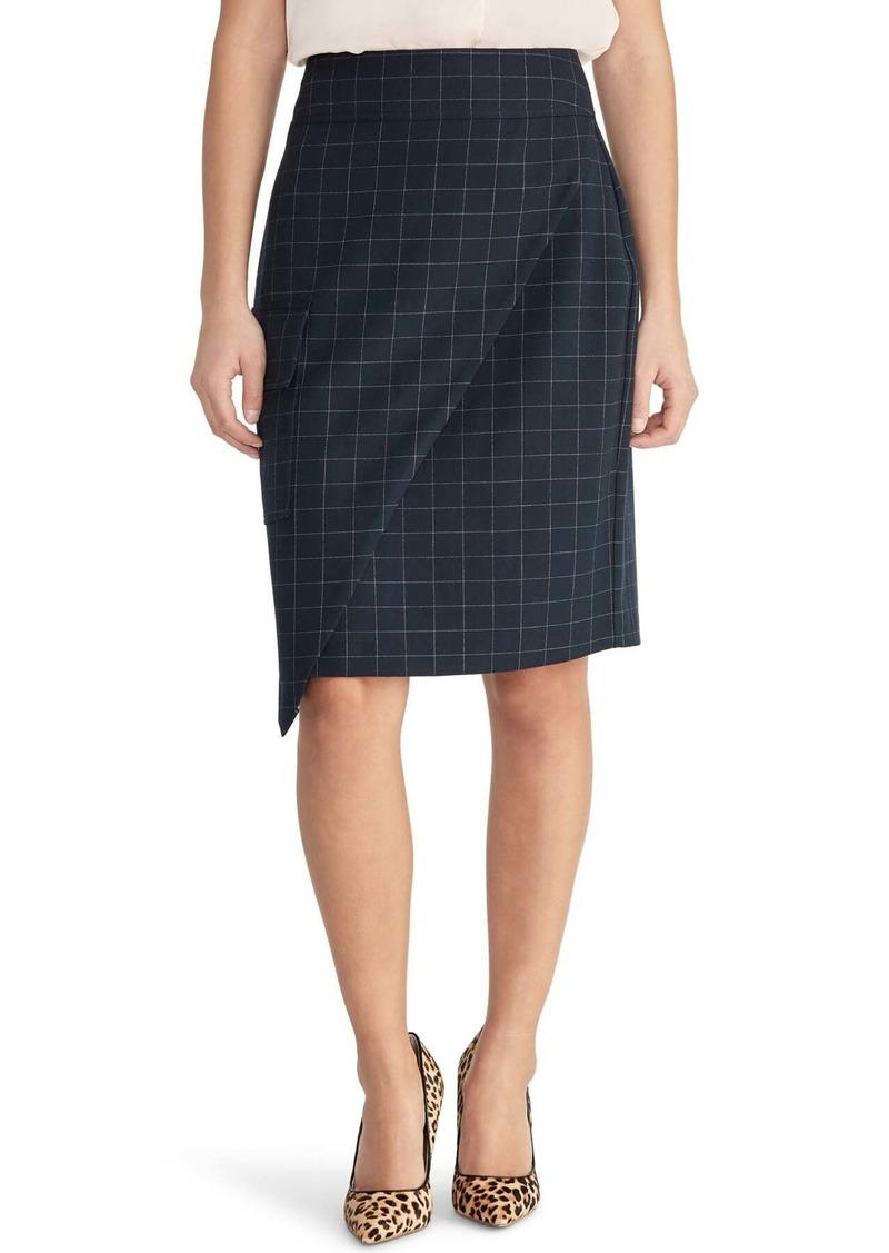Rachel Roy Asymmetrical Check Skirt