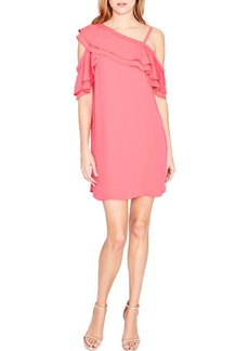 Rachel Roy Asymmetrical Ruffle Trapeze Dress