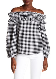 Rachel Roy Ava Ruffle Gingham Top