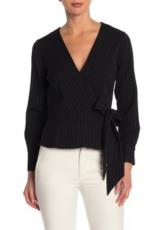 Rachel Roy Chalk Stripe Wrap Top