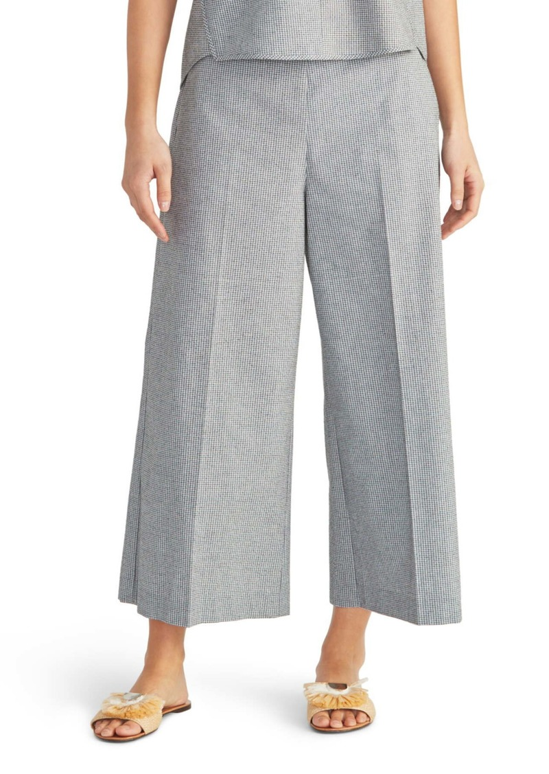Rachel Roy Check Crop Wide Leg Pants
