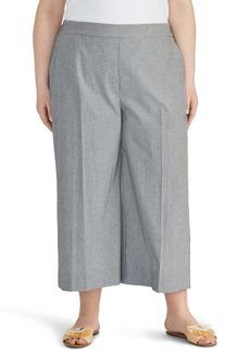 Rachel Roy Check Crop Wide Leg Pants (Plus Size)