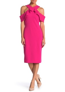 Rachel Roy Cold Shoulder Ruffle Sheath Dress