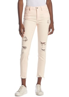 Rachel Roy Distressed Raw Hem Jeans
