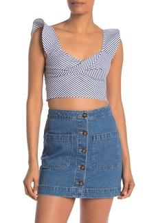 Rachel Roy Esta Stripe Twist Top (Regular & Plus Size)