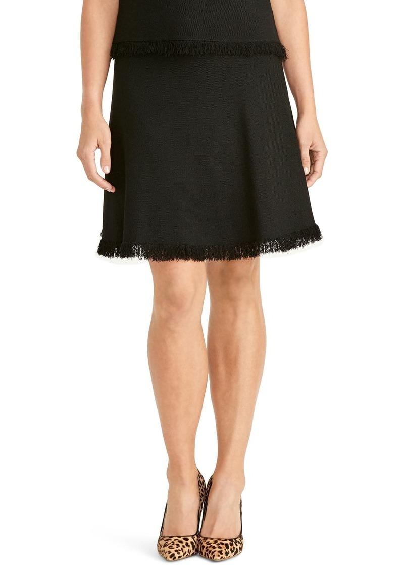 Rachel Roy Fringe Fit & Flare Sweater Skirt