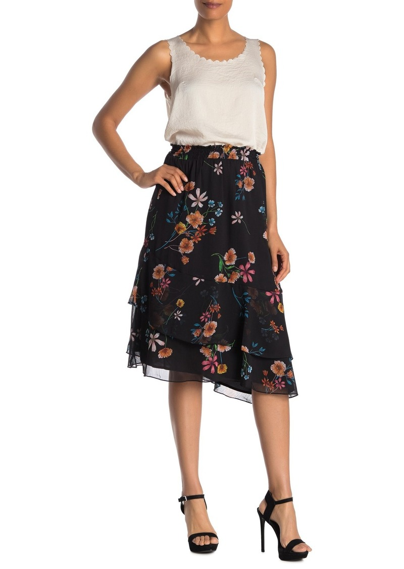 Rachel Roy Floral Chiffon Midi Skirt