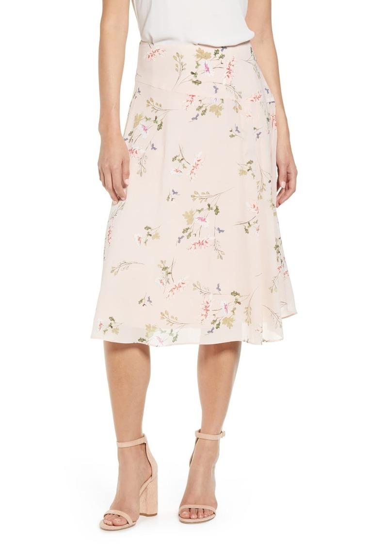 Rachel Roy Floral Draped Skirt