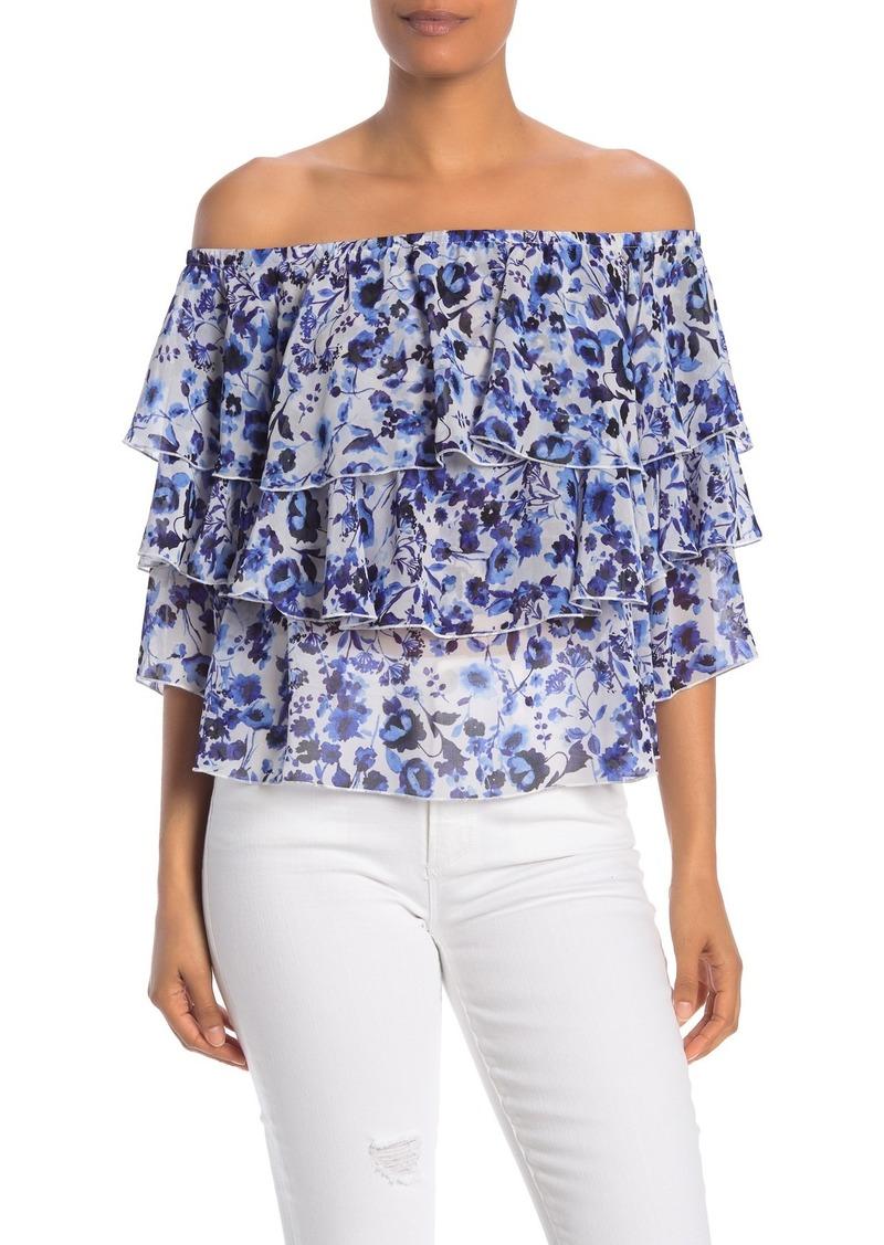 Rachel Roy Floral Off-the-Shoulder Shirt