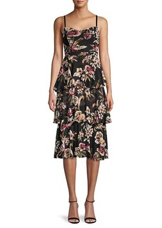 Rachel Roy Floral Tiered Dress