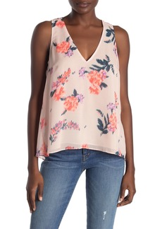Rachel Roy Floral V-Neck Sleeveless Top