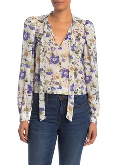 Rachel Roy Gail Floral Neck Tie Blouse (Regular & Plus Size)