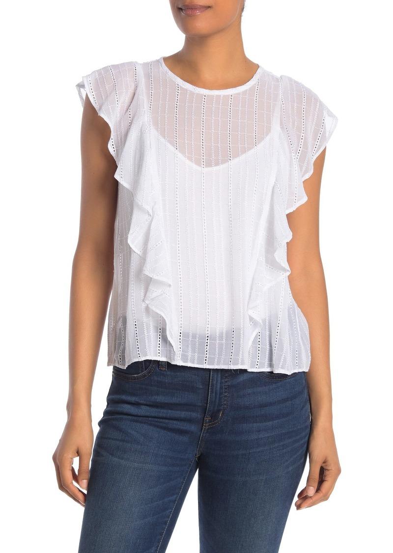 Rachel Roy Gemma Lace Ruffle Shirt