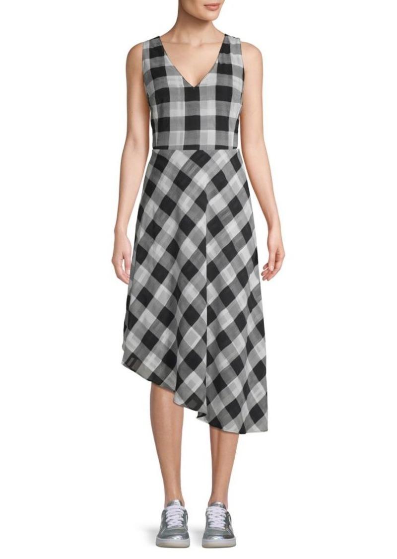 Rachel Roy Gingham Asymmetrical Dress