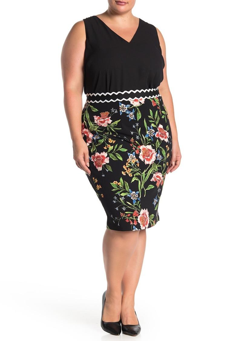 Rachel Roy Gretchen Floral Pencil Skirt (Plus Size)