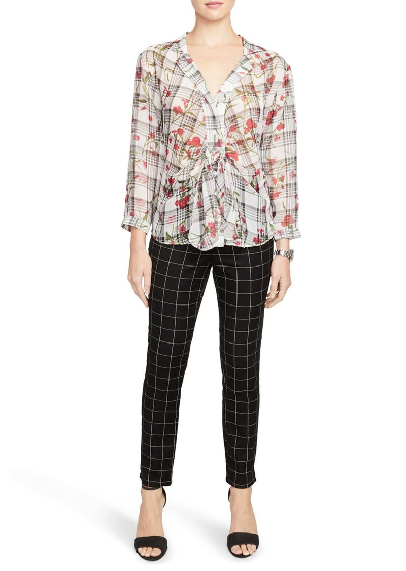 Rachel Roy Windowpane Grid Print Pants