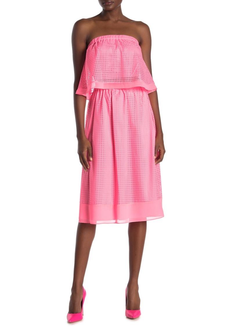 Rachel Roy Ilia Windowpane Tulle Midi Skirt