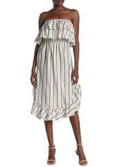 Rachel Roy Jacinta Stripe Popover Linen Blend Dress