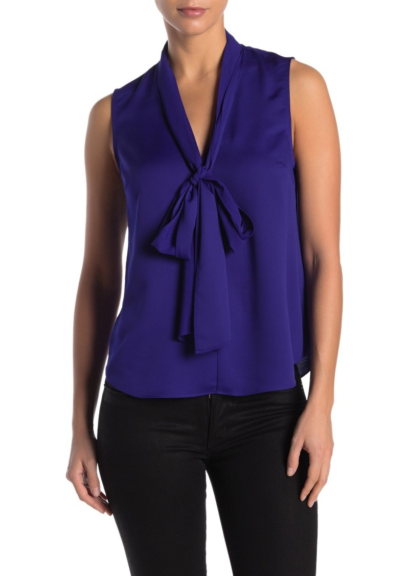Rachel Roy Jasper Sleeveless Necktie Blouse