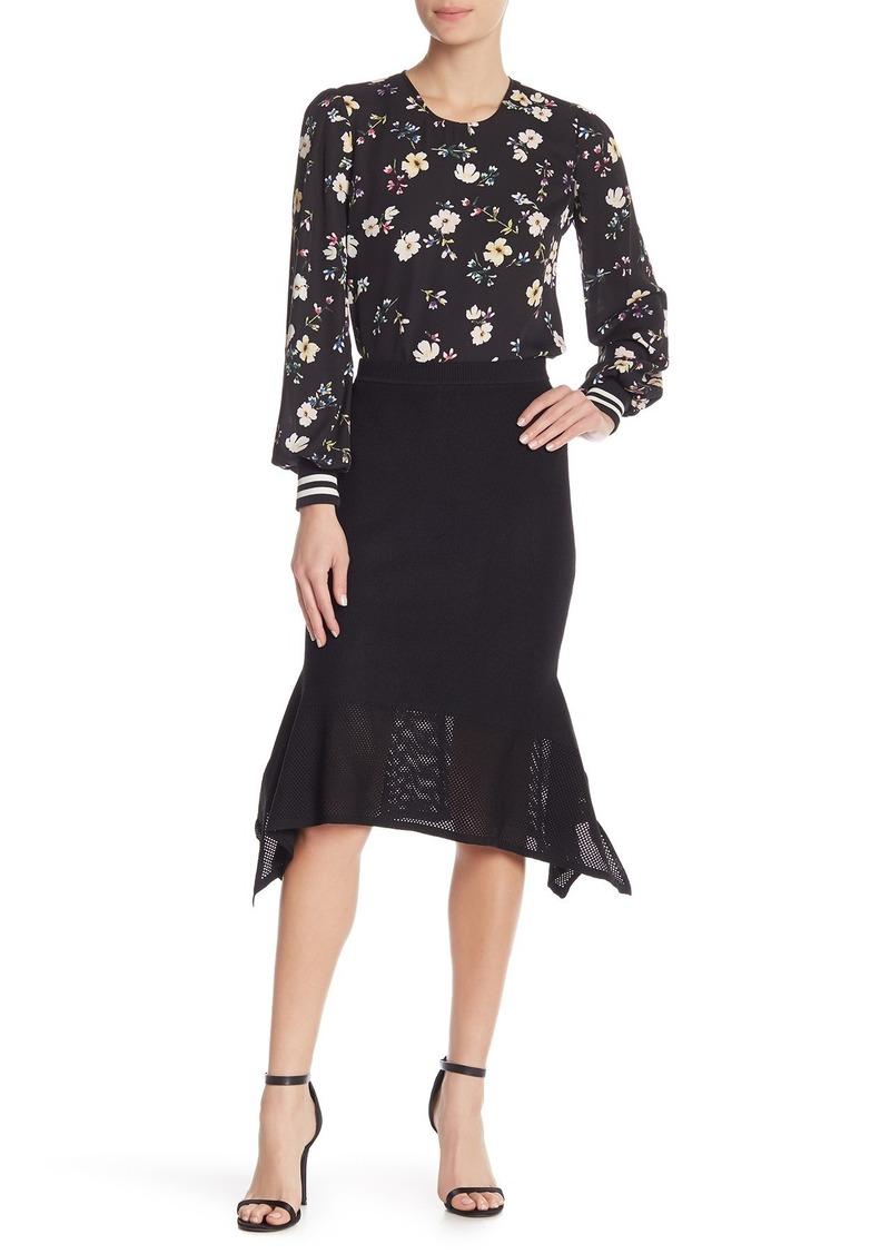 Rachel Roy Katelyn Knit Sharkbite Skirt