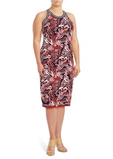 Rachel Roy Plus Knit Floral Sheath Dress