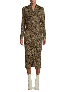 Rachel Roy Leopard-Print Midi Dress