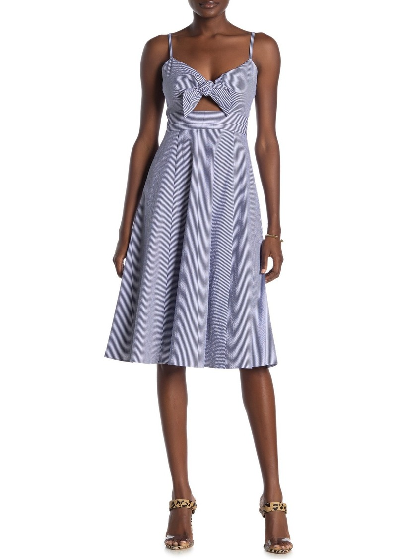 Rachel Roy Lucia Stripe Tie Front Dress