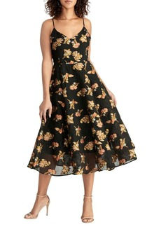 Rachel Roy Marianna Embroidered Fit-&-Flare Dress