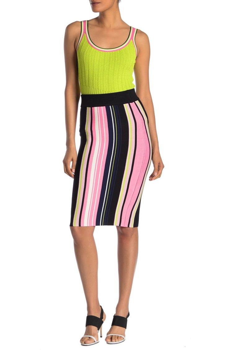 Rachel Roy Oliva Striped Knit Pencil Skirt