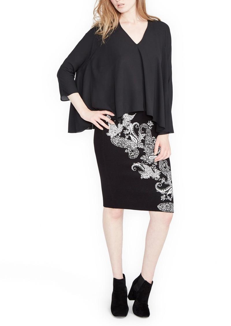 Rachel Roy Paisley Pencil Skirt