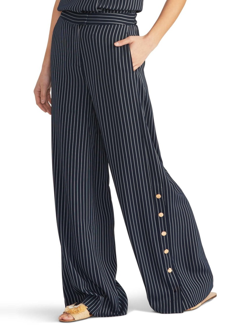 Rachel Roy Pinstripe Side Button Trousers