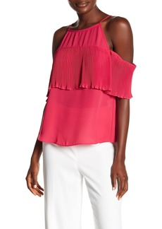 Rachel Roy Pleated Cold Shoulder Tank