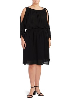 Rachel Roy Plus Cold-Shoulder Blouson Dress