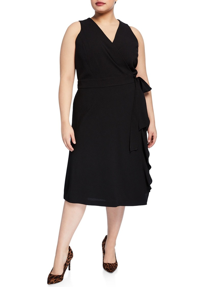 Rachel Roy Plus Size Etta Sleeveless Wrap Dress