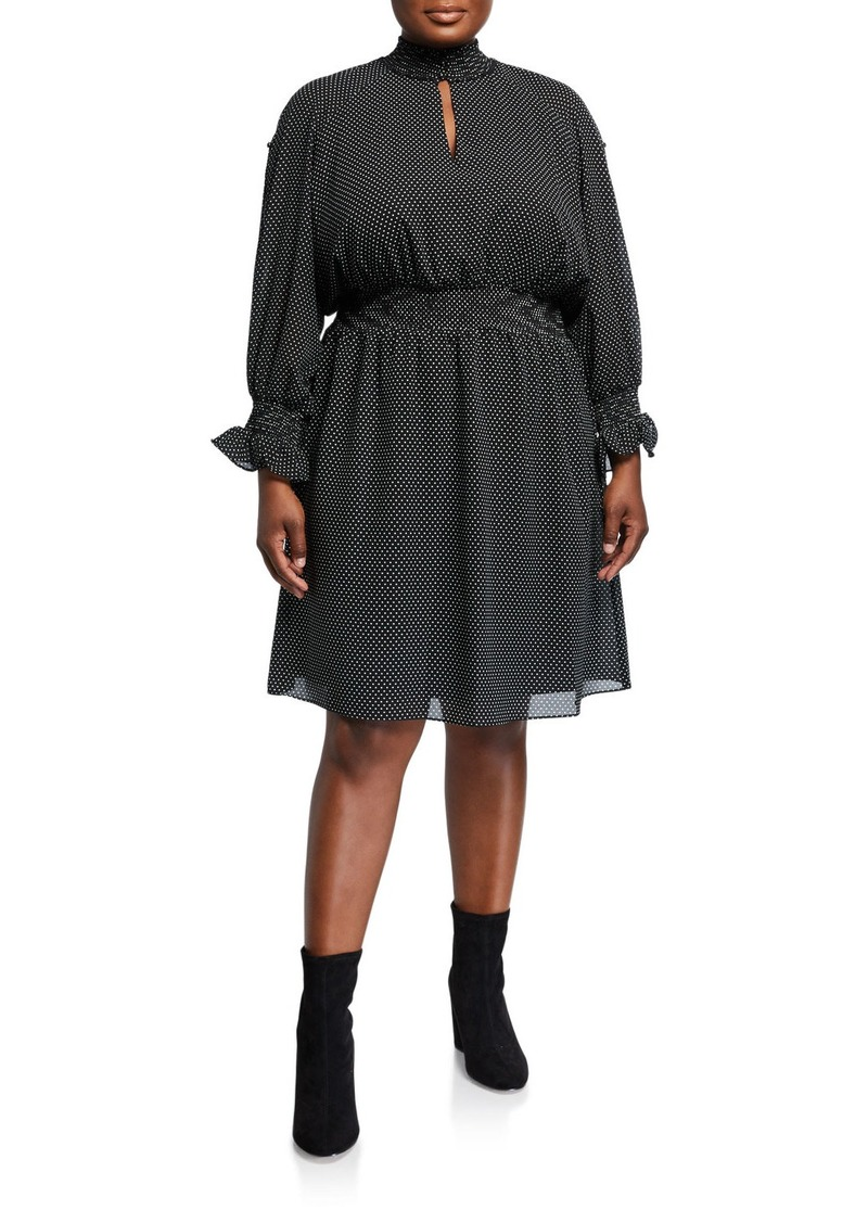 Rachel Roy Plus Size Lucky Leopard Chiffon-Overlay Mini Dress