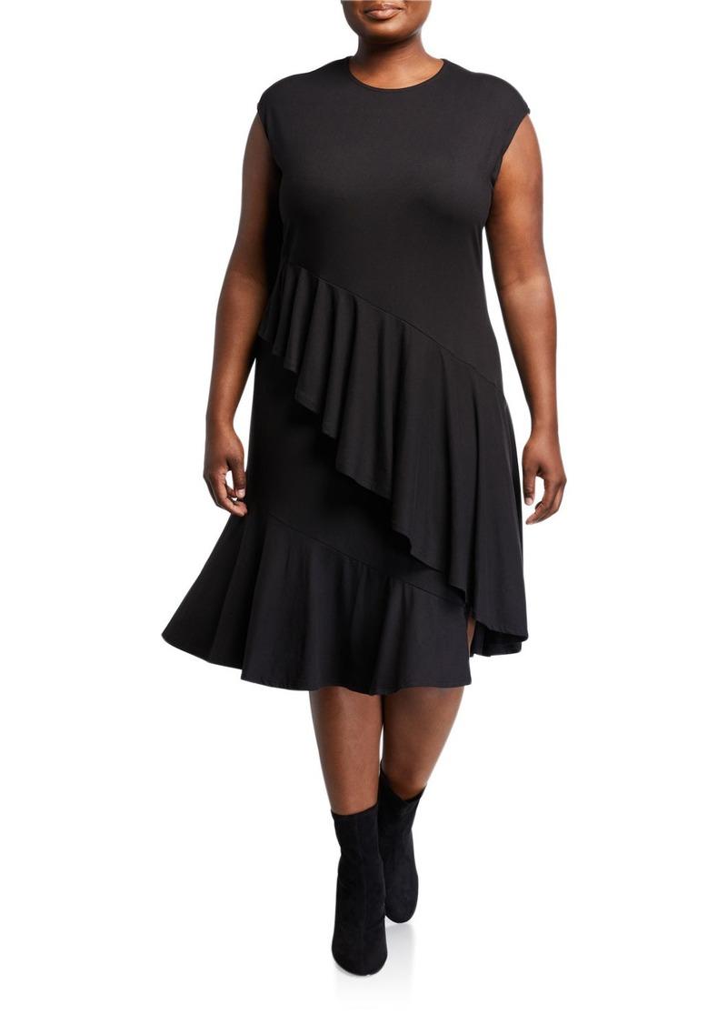 Rachel Roy Plus Size Malvina Asymmetric Ruffle Dress