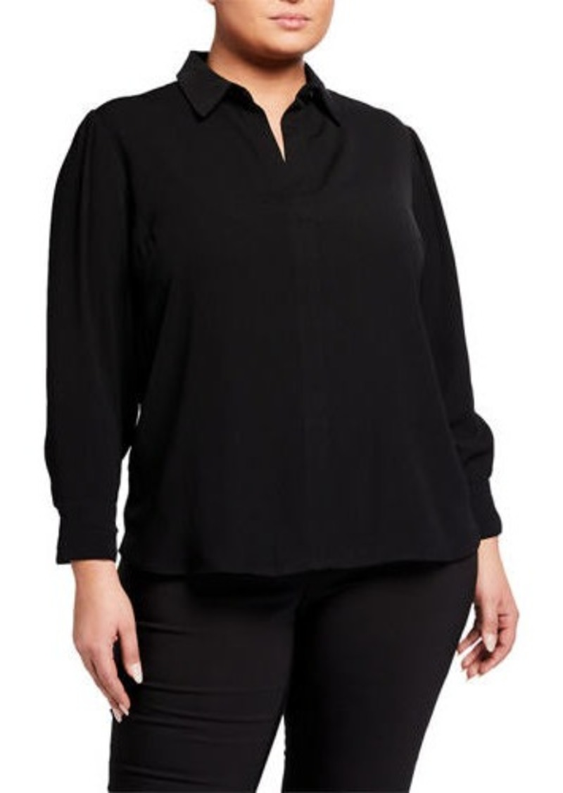 Rachel Roy Plus Size Najila Split-Neck Top