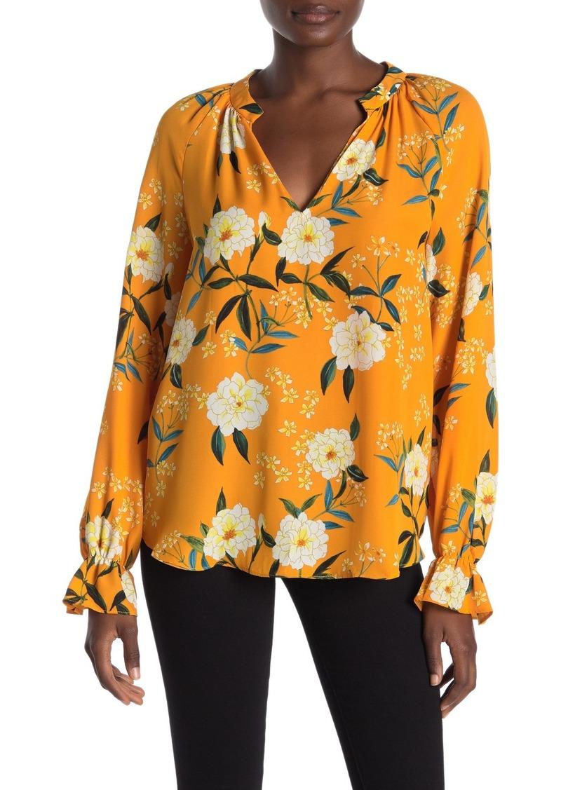 Rachel Roy Poet Floral Long Sleeve Blouse
