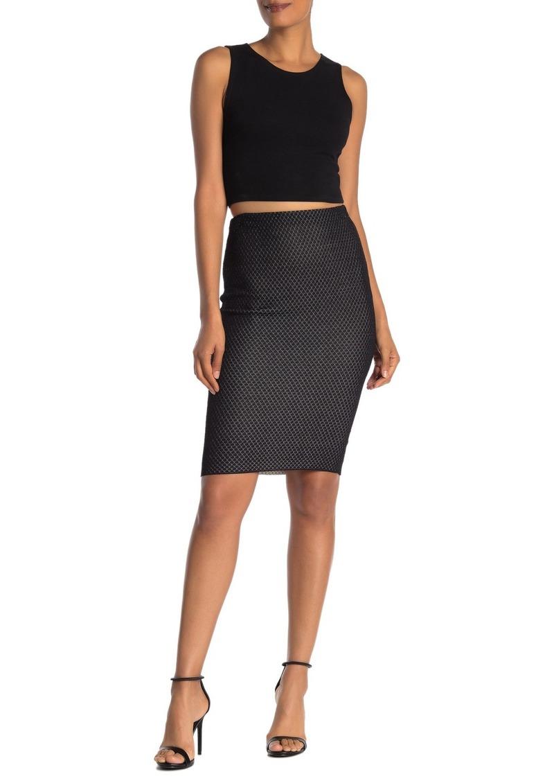 Rachel Roy Presley Polka Dot Knit Skirt
