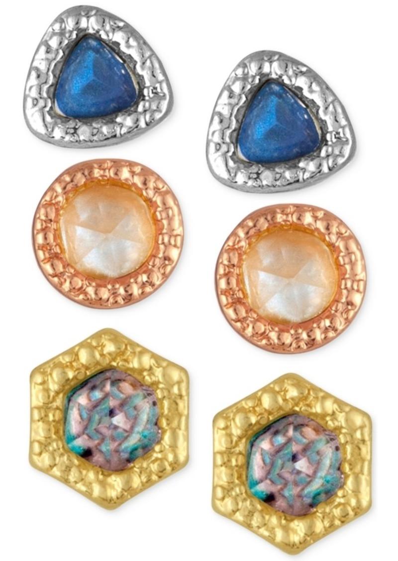 Rachel Rachel Roy 3-Pc. Set Stone Stud Earrings